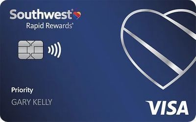 Southwest Rapid Rewards Priority Credit Card   Earn 65K Points w/ $2K in 3 Months
