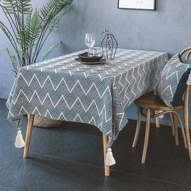 Rectangle Tassel Tablecloth - Various Sizes