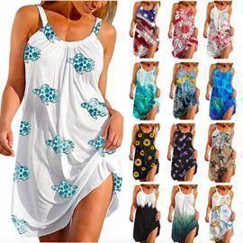 Summer O-Neck Sleeveless Pullover Dresses