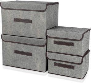 4-Pack Storage Box Basket Bins