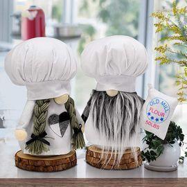 2 Pcs Chef Gnomes Plush Kitchen Decorations