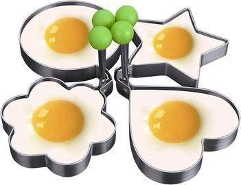 4-pack Egg Rings Stainless Steel Pancake Mold Set.