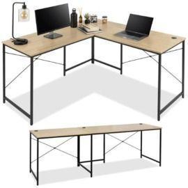 Modular L-Shaped Office Desk w/Customizable Setup