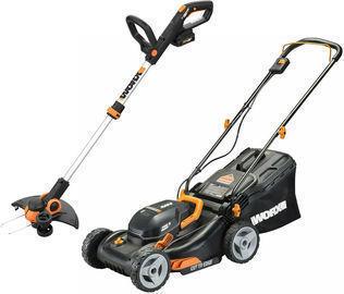 Worx 2x20V 17 Cordless Lawn Mower + GT 12 Cordless Trimmer/Edger (Certified Refurb)