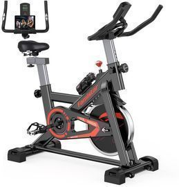 Famistar Exercise Bike Indoor Cycling Stationary Bike, Red