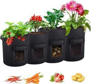 4-Pack Reusable Plant Grow Bags