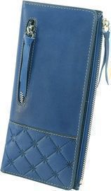 Large RFID Blocking Leather Bifold Wallet with Zipper Pocket