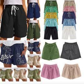 Elastic Waist Pocketed Shorts