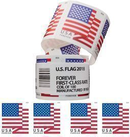 Postage Stamps First Class Coil of 100