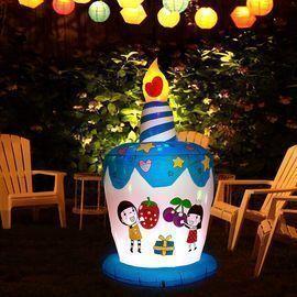 6 Feet Tall Inflatable Happy Birthday Cake