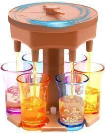 6 Shot Dispenser with 6 cups
