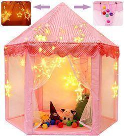 Princess Castle Playhouse w/ String Lights & Balls