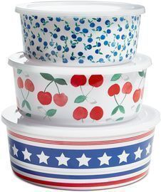Martha Stewart Collection Nesting Food Storage Containers, Set of 3