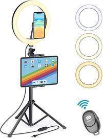 Selfie Ring Light w/ Tripod Stand & Phone Tablet Holder