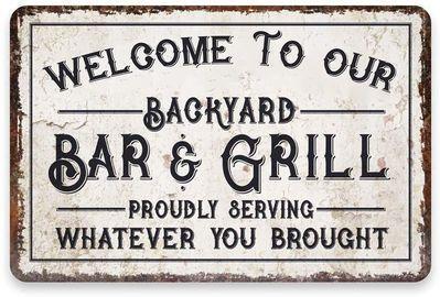 Personalized Backyard Vintage Metal Signs