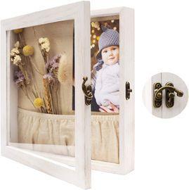 Shadow Box Frame Rustic Wood Memory Box