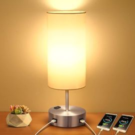 Touch Table Lamp with 2 USB Charging Port