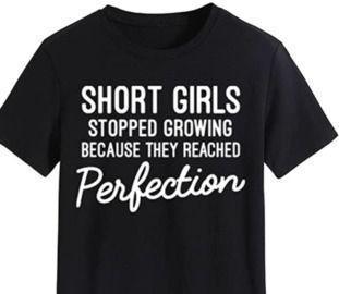 Short Girls Funny Gift T-Shirt