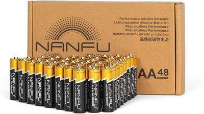 Alkaline Batteries AA 48 Pack