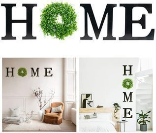 HOME Letters with Wreath