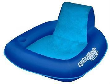 Swim Ways Spring Float SunSeat Floating Inflatable Swimming Pool Lounge Chair