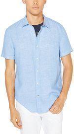 Nautica Men's Classic-Fit Solid Linen Shirt