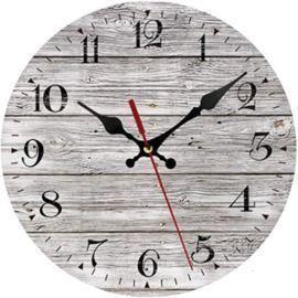 Silent Non-Ticking Wooden Decorative Round Wall Clock