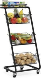 Market Basket Stand with Wheels