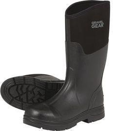 Gravel Gear Men's Waterproof Steel Toe Rubber Boots