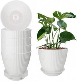6pk of Plastic 6.2 Planters