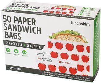 Lunchskins Recyclable + Sealable Paper Sandwich Bags 50-Pack