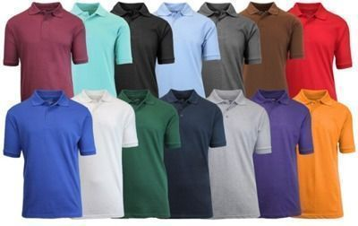 GBH Men's Short Sleeve Polos (4 Pack)