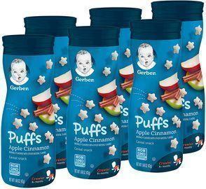 Gerber Puffs Apple Cinnamon Cereal Snack (6 Pack)