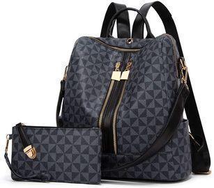Black Leather Bag Set