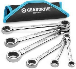 6pc Double Box End Ratcheting Wrench Set