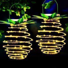 2Pack 60LED Pineapple Solar Lights