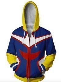 My Hero Academia Cosplay Hoodie Zip Jackets