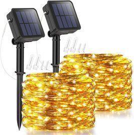2 Pack Solar Fairy Lights