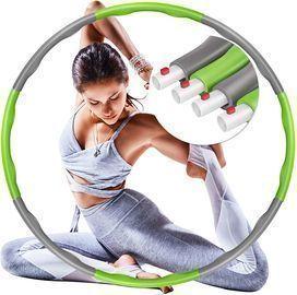 Detachable Exercise Hula Hoop -Green