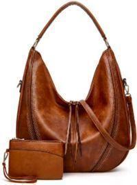 Leather Tote Shoulder Handbags with Tassel Satchel Purses