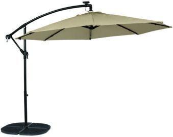Living Accents 10-Foot Solar LED Tiltable Offset Umbrella