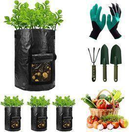 4 Packs 10 Gallon Veggie Grow Bags