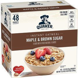 48 Count Quaker Instant Oatmeal, Maple & Brown Sugar