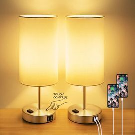 Touch Control Table Lamps Set of 2