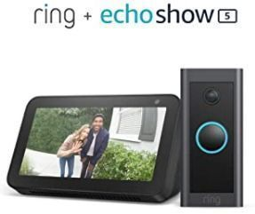 Ring Video Doorbell Wired Bundle with Echo Show 5