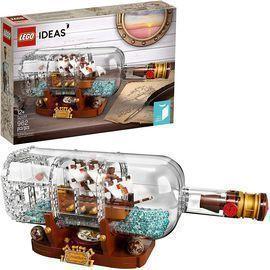 Lego Ideas Ship in a Bottle Expert Building Kit