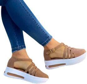 Women Peep Toe Platforms Wedge Sandals