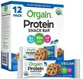 PRIME EXCLUSIVE: 12 Count Orgain Organic Plant Based Protein Bars