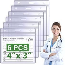 6 pack-Vaccination Card Protector