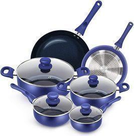 10pcs Cookware Set Non-stick Pots and Pans Set - Blue Only